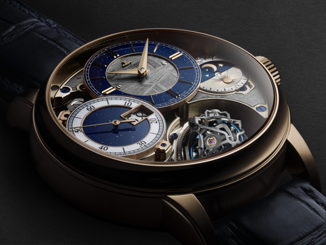 Jaeger-LeCoultre Master Grande Traditions Gyrotourbillon 3 Meteorite watch.
