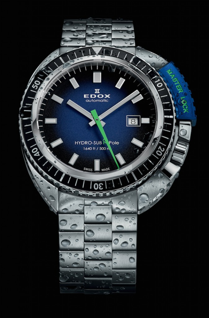 The Edox HydroSub Automatic Divers watch is water resistant up to 500meters.