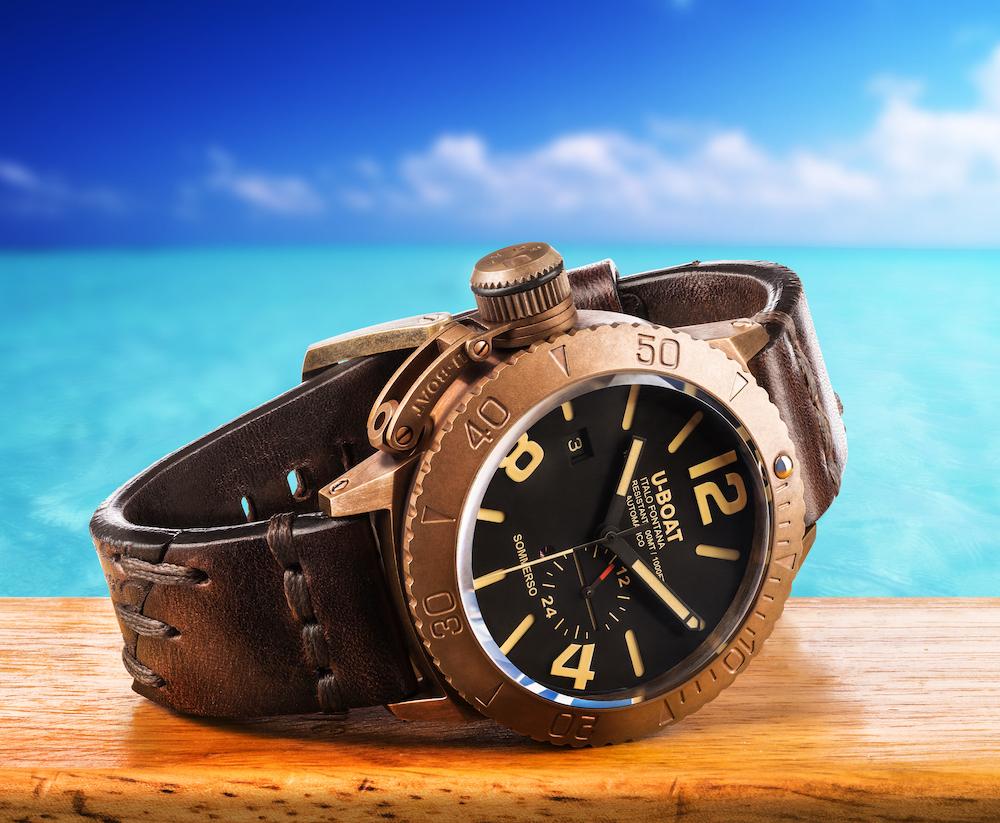 U-Boat Sommerso Bronze diver watch