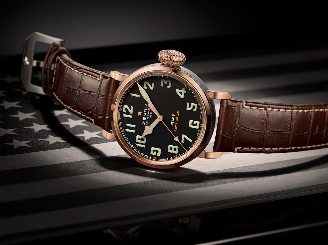 Zenith Pilot Extra Special Limited Edition Thayer 18-karat rose gold and titanium watch