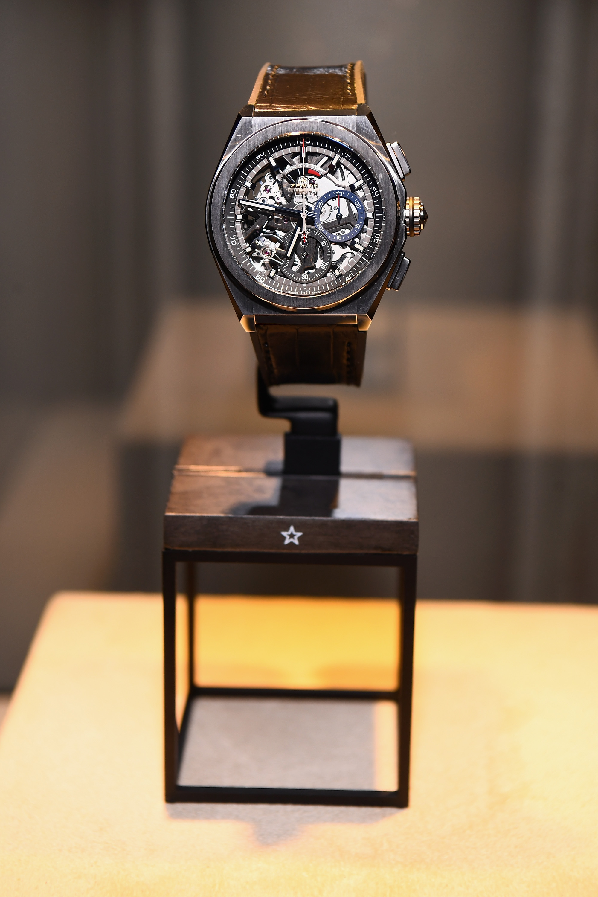 Zenith Watches on display as Zenith Watches and Swizz Beatz celebrate the launch of The Defy Collection at the Angel Orensanz Center on November 30, 2017 in New York City. (Photo by Dave Kotinsky/Getty Images for Zenith)