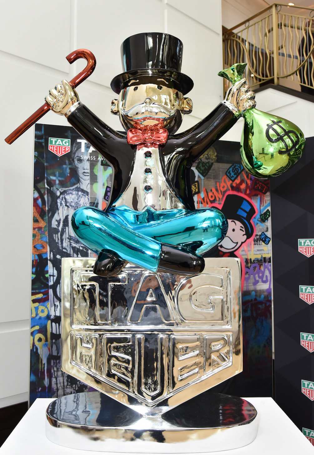 Fontainebleau Hotel Art Takeover With TAG Heuer Art Provocateur Alec Monopoly at Miami Design District on December 7, 2017 in Miami, Florida. (Photo by Eugene Gologursky/Getty Images for TAG Heuer)