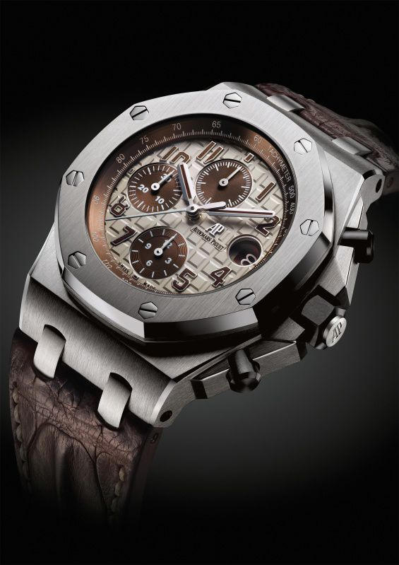 With the sale of every Audemars Piguet watch, a portion of the proceeds goes to the Foundation. Seen here is the Royal Oak Offshore Chrono Safari.