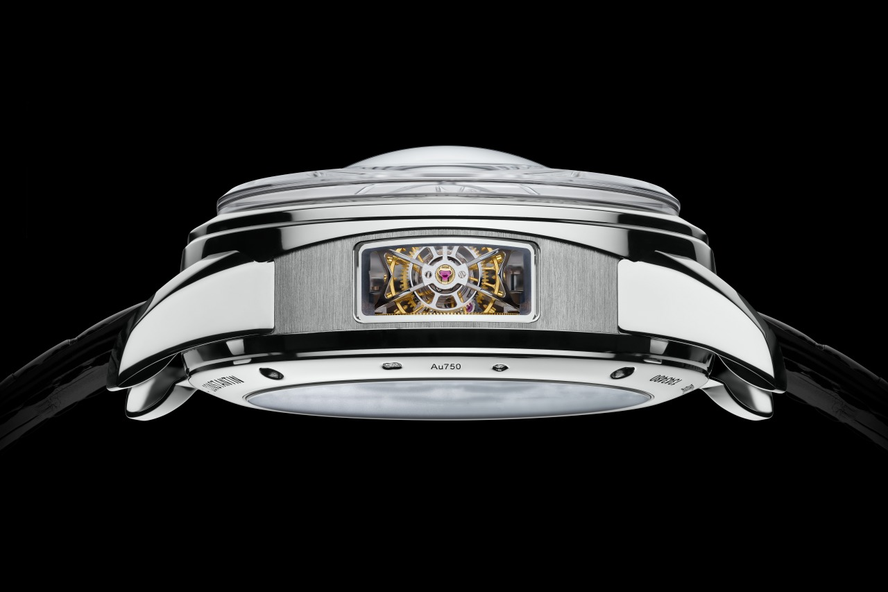 The Armillary Tourbillon is visible from the case side