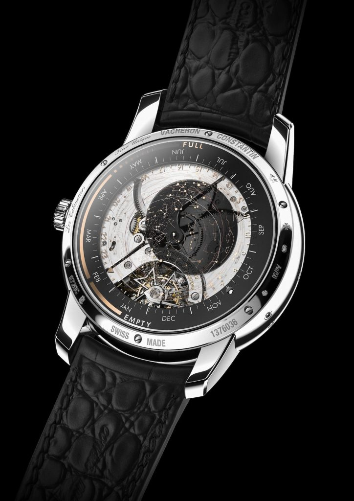 Les Cabinotiers Celestia Astronomical Grand Complication 3600 has a patent pending for the celestial superimposed discs.