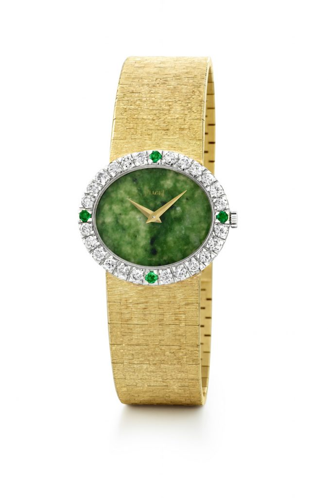 Jackie Kennedy's original Piaget with jade dial is worn by Portman in the movie.