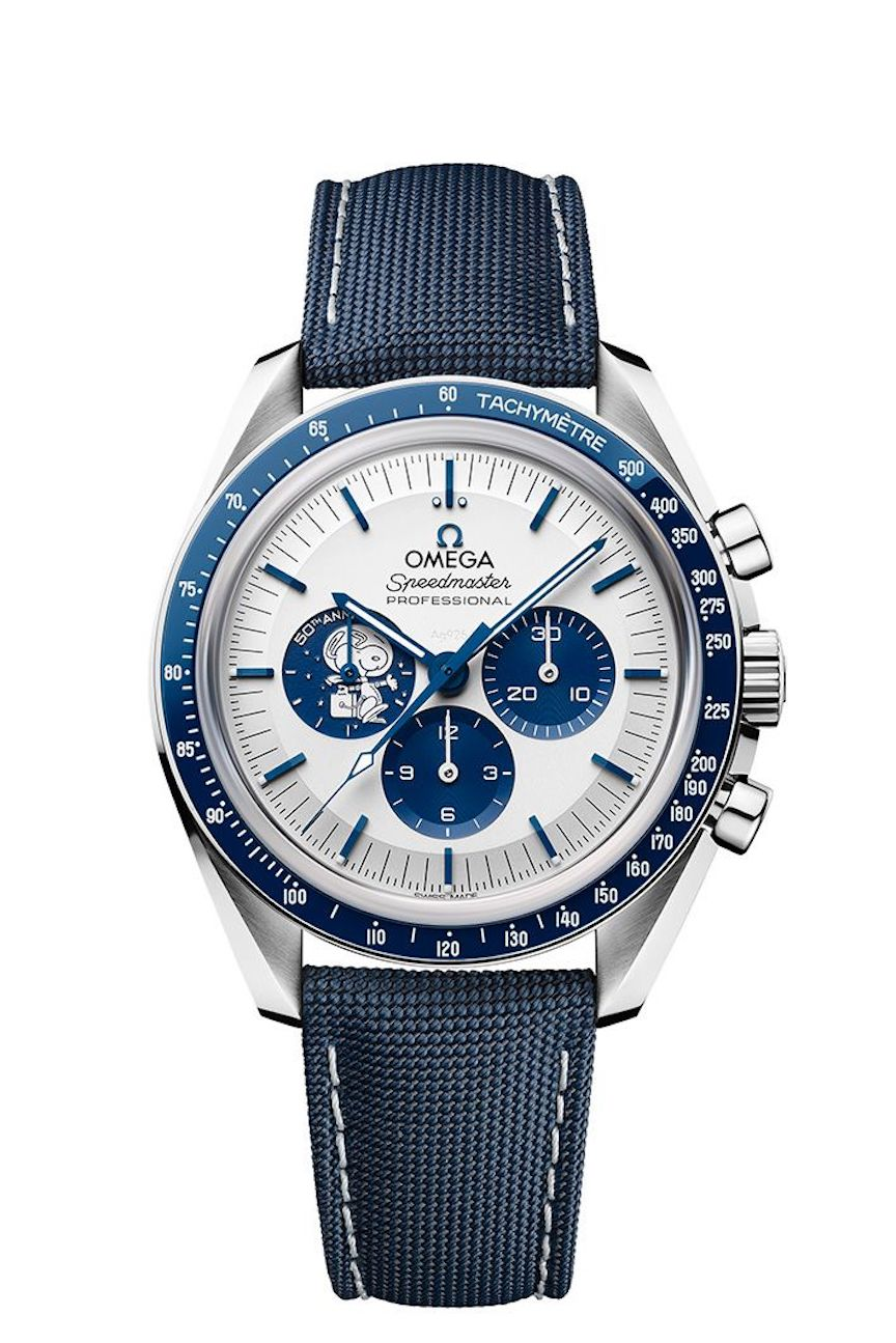 Omega Speedmaster Silver Snoopy Award 50th Anniversary Watch