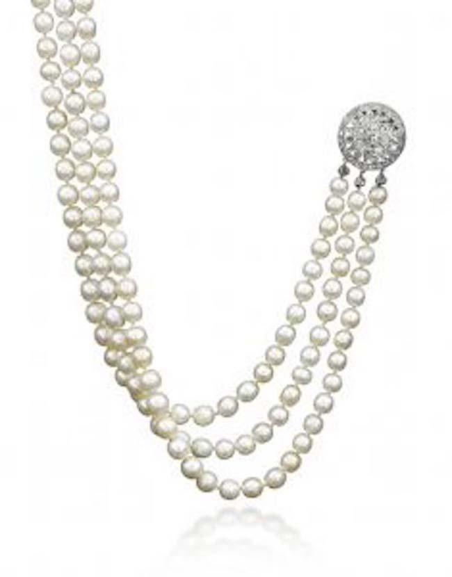 Sotheby's is auctioning certain jewels of Marie Antoinette and other royalty -- including this natural pearl and diamond necklace -- at the Royal Jewels from the Bourbon Parma Family auction this November