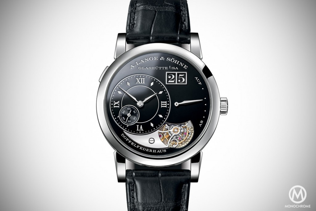 A. Lange & SOhne Lange 1 Tourbillon Handwerkskunst (2014) -- the first to feature a glossy dial