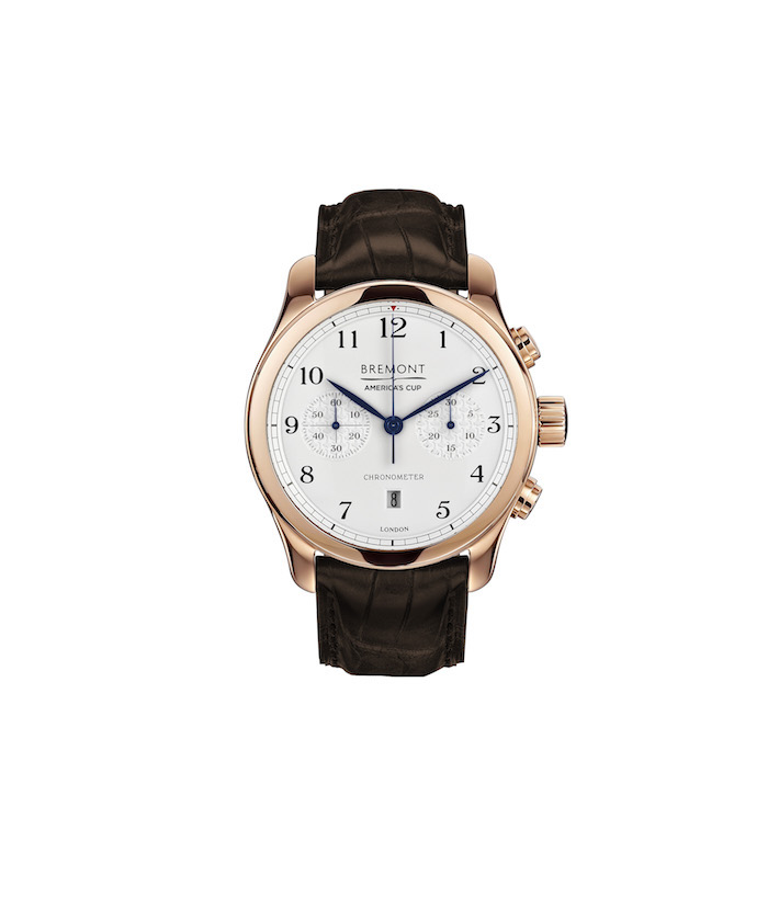 Bremont's ACII is a step up from its partner as it is done with an 18-karat rose gold casing and features a chronograph