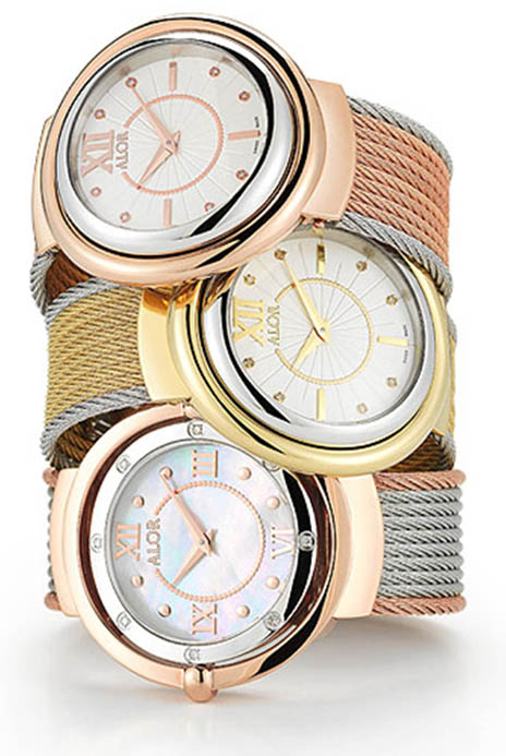 Many of the new ALOR watches feature cable bracelets.