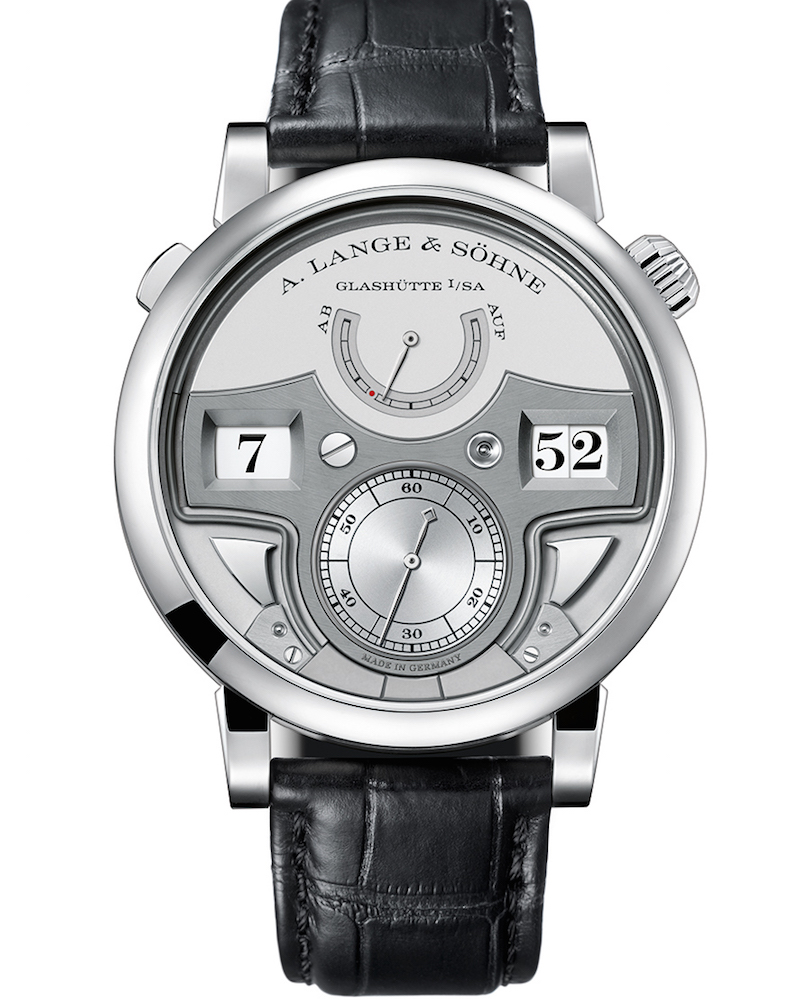 A. Lange & Sohne Zeitwerk Minute Repeater  comes out just six years after the first Zeitwerk made its bold appearance on the scene
