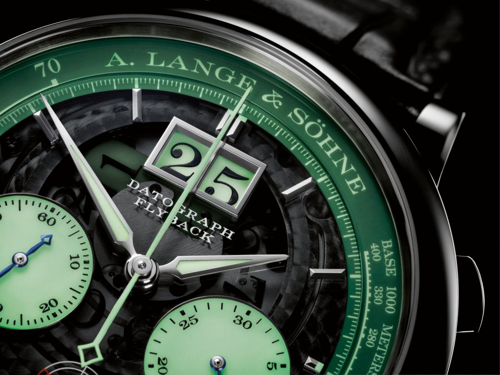 A. Lange & Sohne Datograph Up/Down Lumen in platinum.