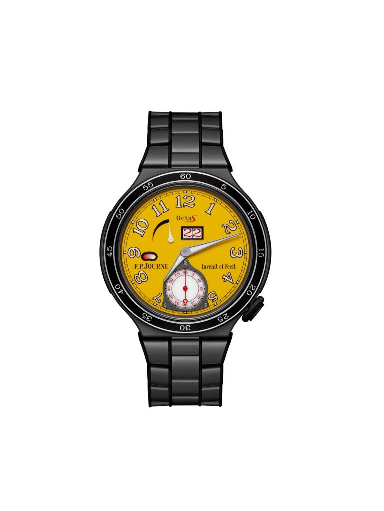 F. P. Journe Octa Sport with yellow dial.