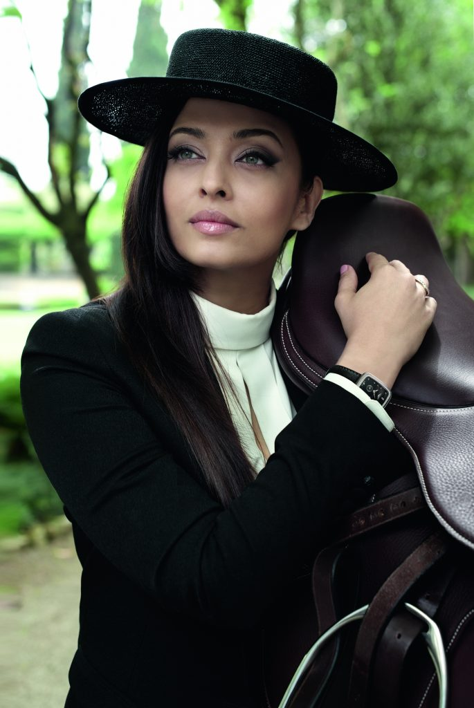 Longines Ambassador of Elegance Aishwarya Rai Bachchan wearing a new model from the Longines Equestrian Collection.