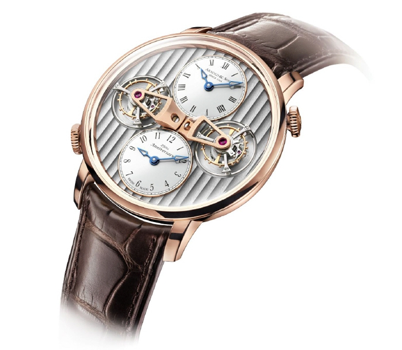 The DTE houses the in-house made movement, as do all of the watches in the Instrument collection.