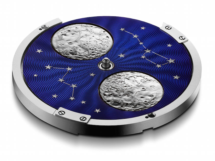 The moon and stars are hand worked and painted for distinct detail