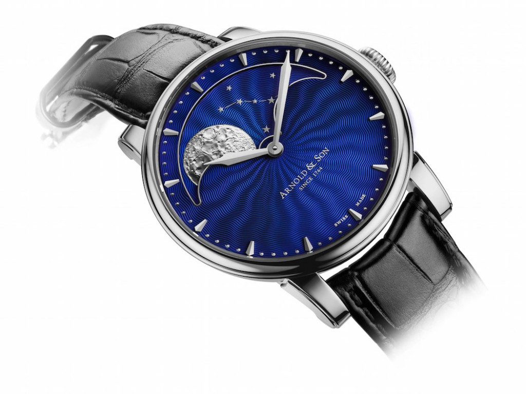 Arnold & Son HM Perpetual Moon with Blue Guilloche dial