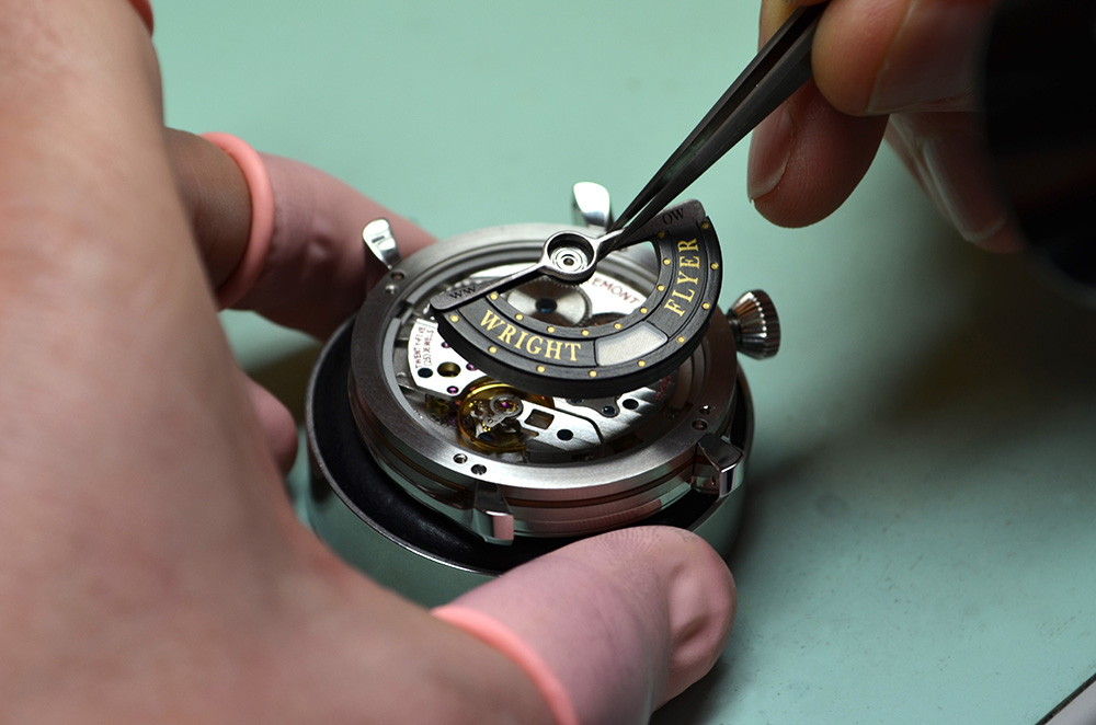 Assembly of the Bremont Wright Flyer watch