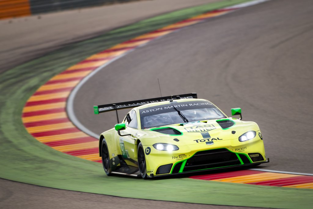 Aston Martin Vantage GTE, TAG Heuer, take to the WEC World Endurance Races. Copyright : Drew Gibson Photography / Nick Dungan