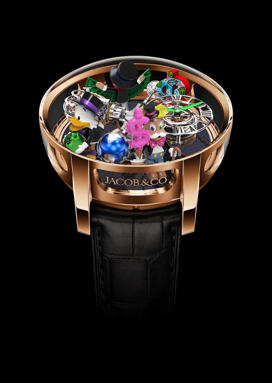 Jacob & Co. Astronomia Tourbillon Alec Monopoly watch.