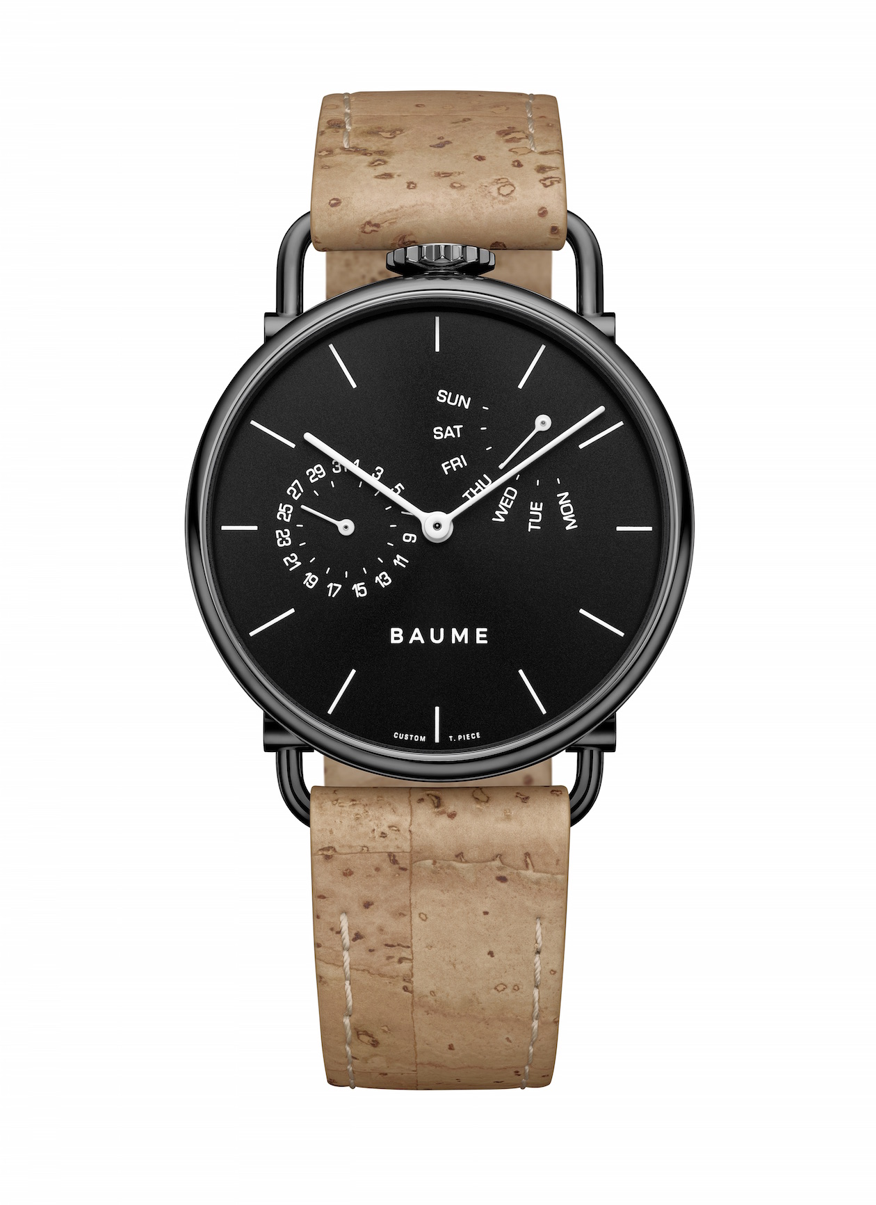 The Baume brand, new from Richemont Group, uses sustainable materials, including cork for straps.