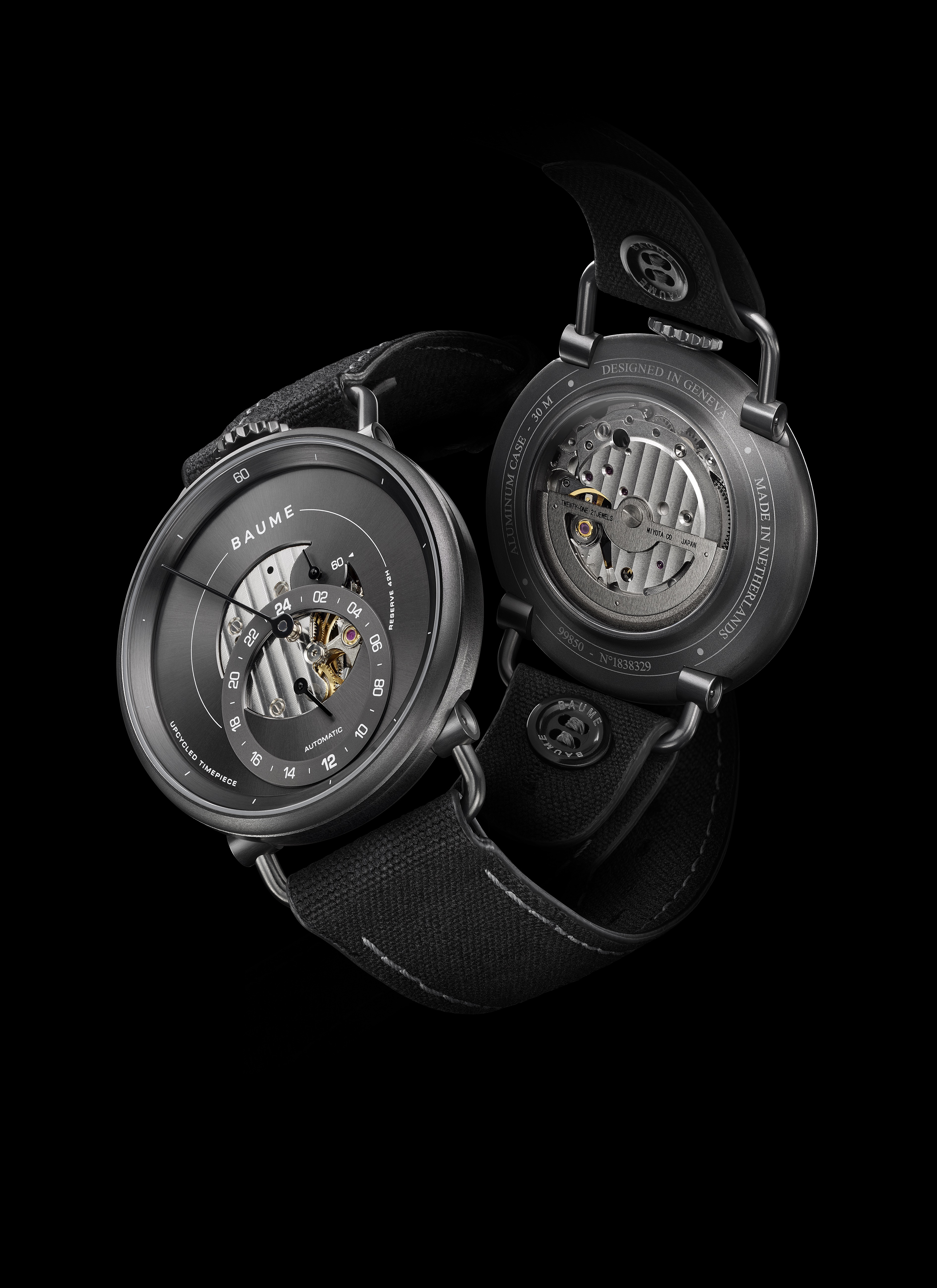 The new Baume brand offers the Iconic watch line (one of which is seen here) and a fully Custom Timepiece series.