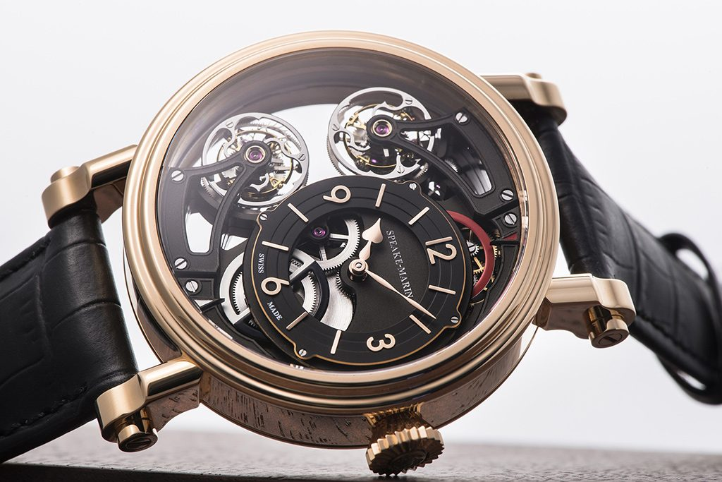 Vertical Double Tourbillon Openworked is visually stunning.
