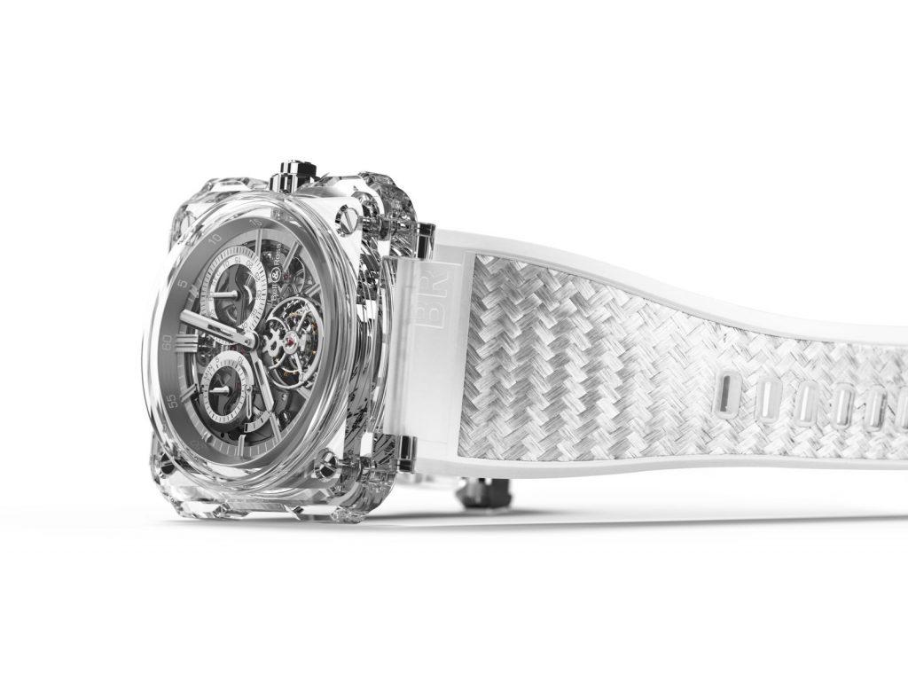 Bell & Ross BR-X1 Transparent sapphire chronograph tourbillon.