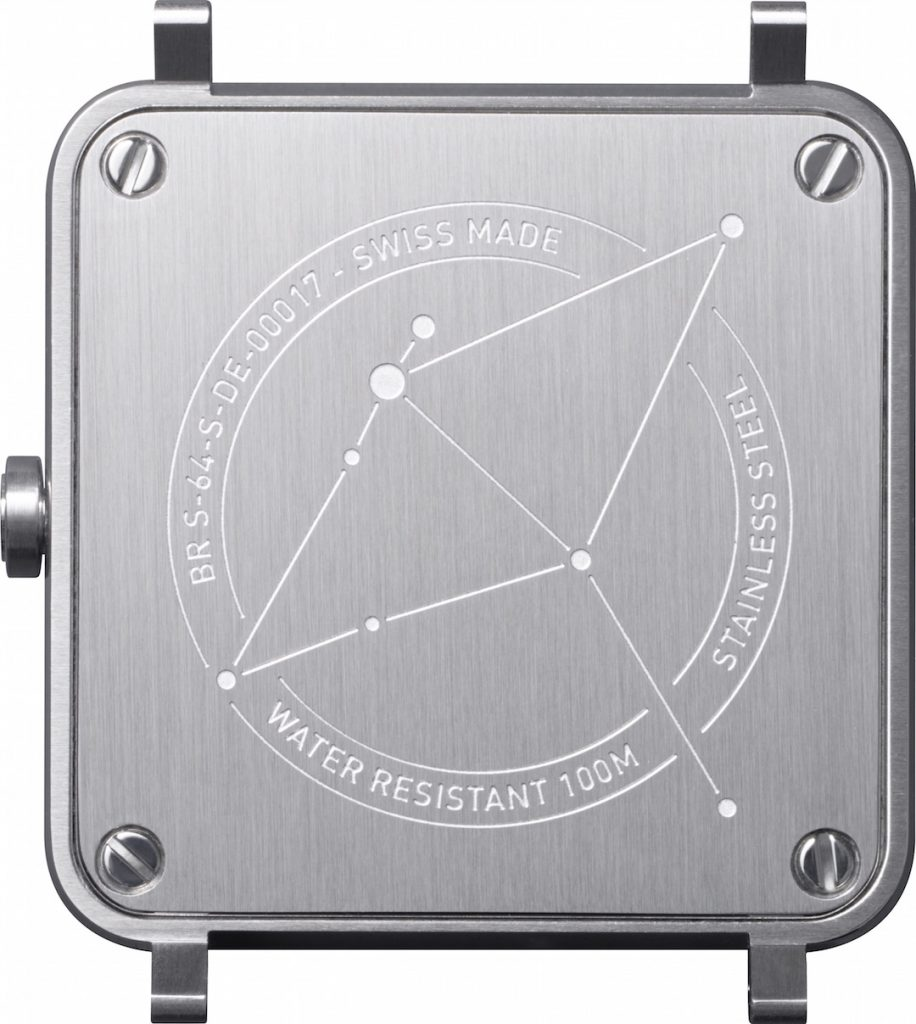 The caseback features the constellation engraving.
