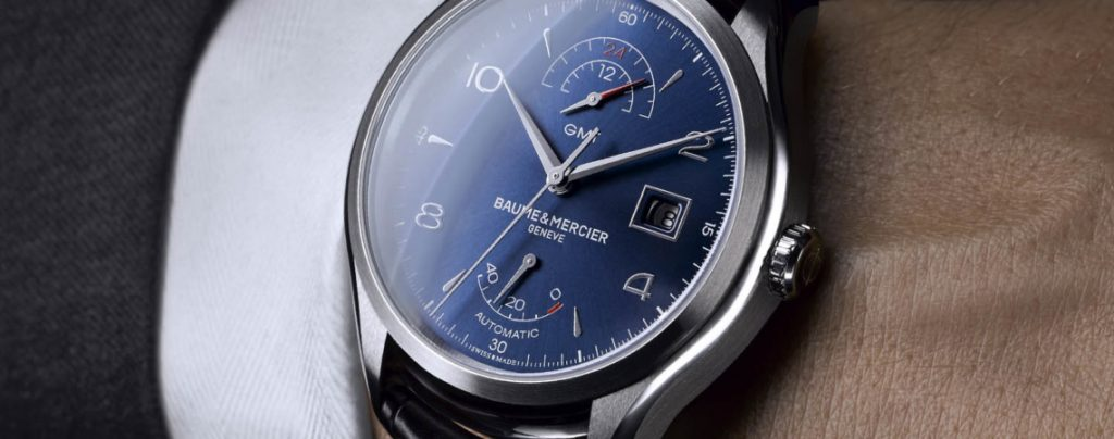 Baume & Mercier Clifton GMT blue dial watch for SIHH 2017