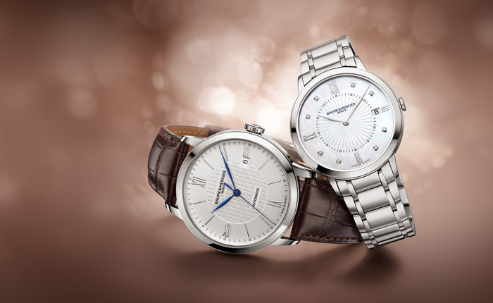 The new line offers 40mm men's pieces and 36.5mm women's watches.