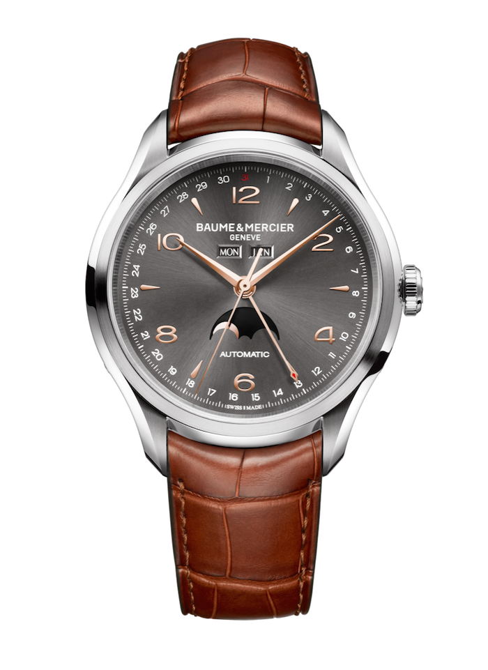 Baume & Mercier's Complete Calendar with its 2015 anthracite dial model no. 10213