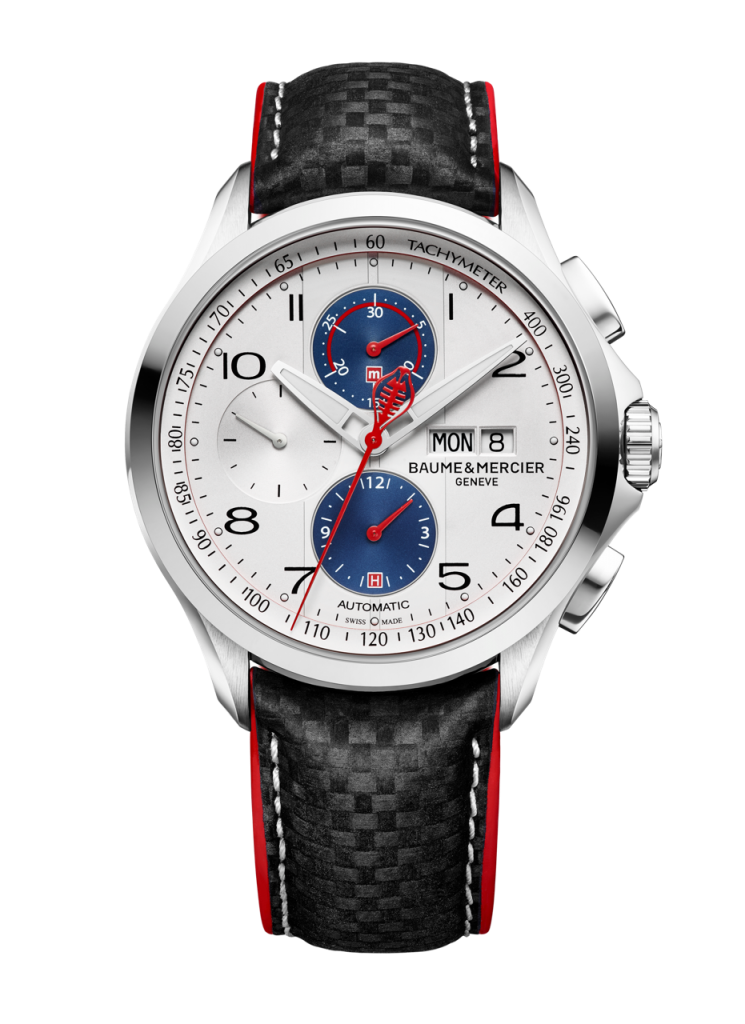 Each of the new Clifton Club Shelby Cobra Chronographs features Daytona Coupe colors, and the Shelby Cobra logo designed by Brock for the brand in the 1960's as the tip of the chronograph seconds hand.