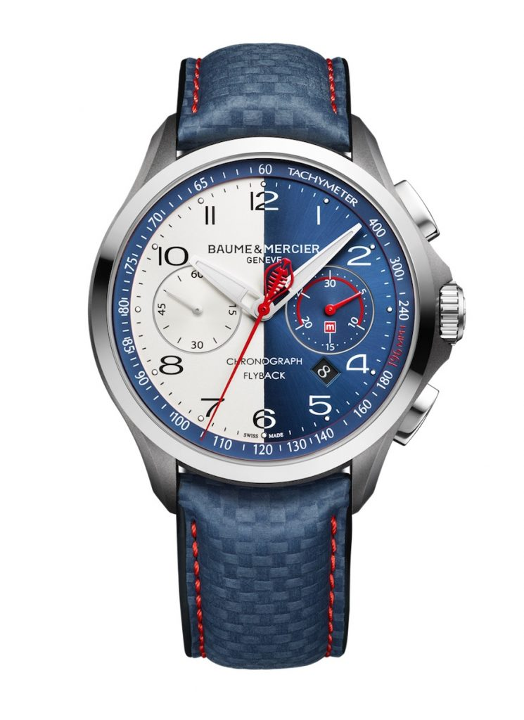 Baume & Mercier Clifton Club Shelby® Cobra CSX2299 Limited Edition watch designed with Peter Brock, designer of the Shelby Cobra Daytona Coupe.
