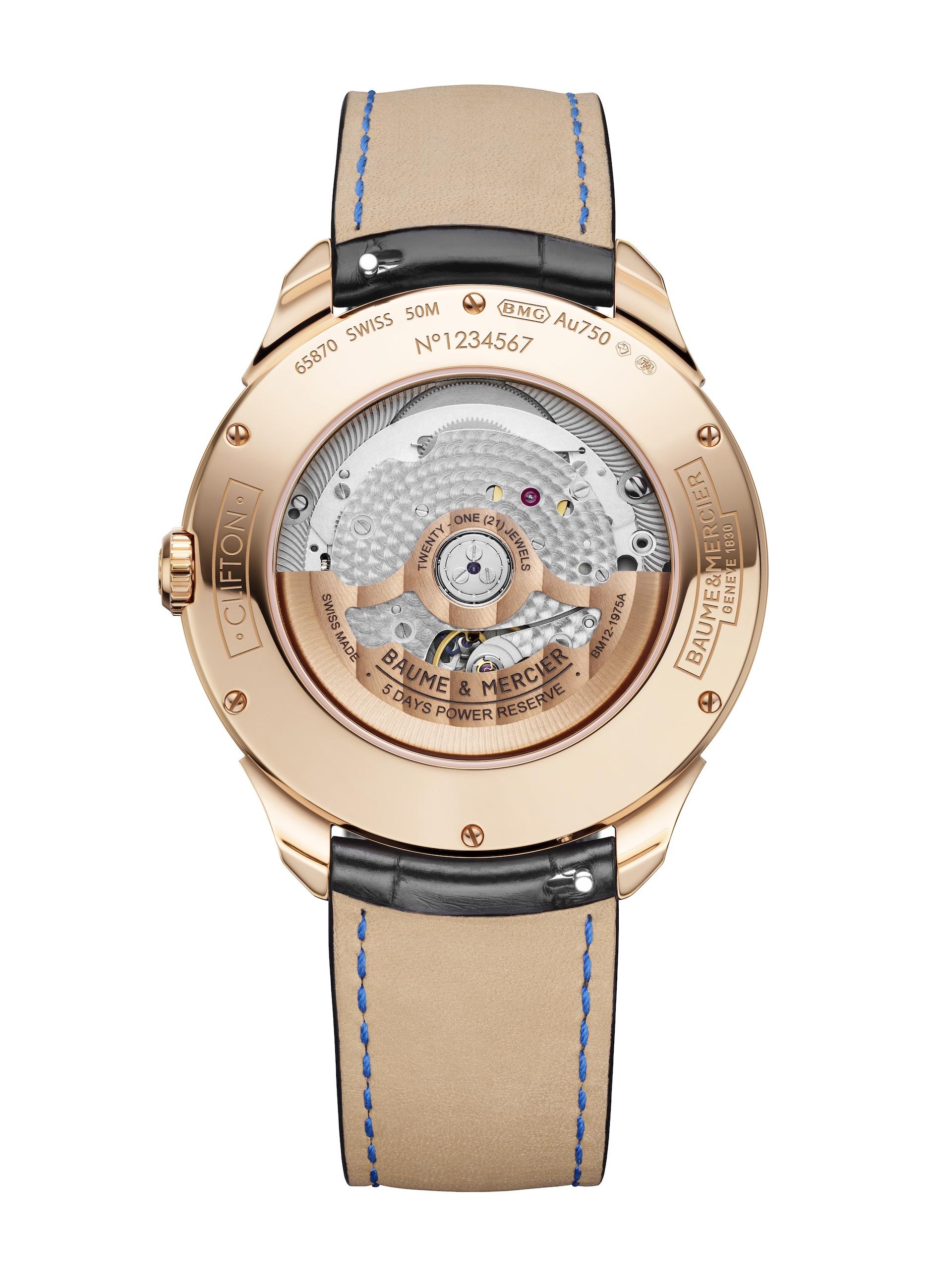 The Baume & Mercier Clifton Baumatic Perpetual Calendar watch joins the Baumatic BM13-1975AC-1 movement with a perpetual calendar module