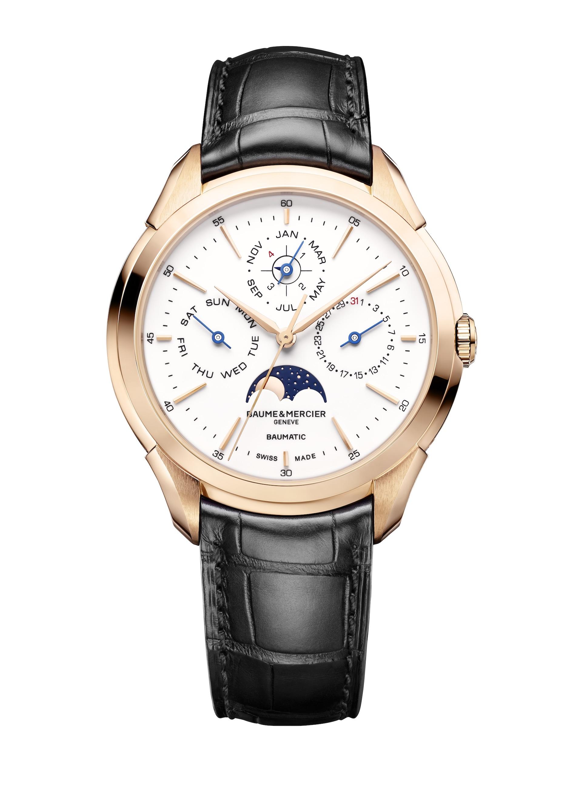SIHH 2018: Baume & Mercier Clifton Baumatic Perpetual Calendar watch.