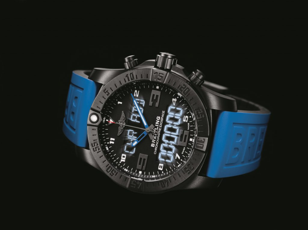 Breitling Exospace B55 uses LCD and backlighting