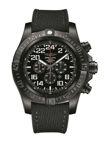 Breitling's new Super Avenger Military Series watch offers time in 24-hour military readout.