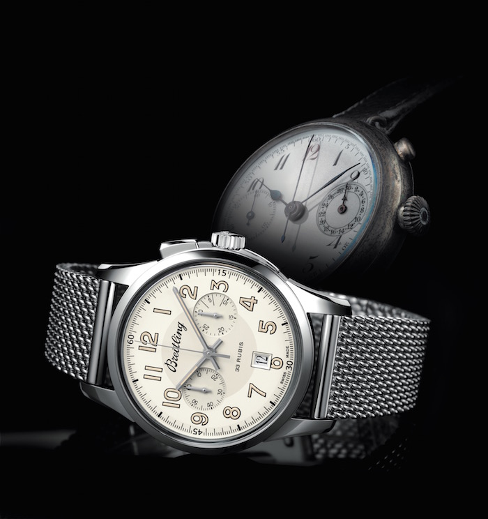Breitling Transocean Chronograph 1915 Dial and Historic Piece