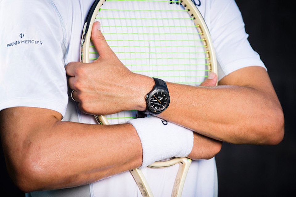 The Bryan brothers will wear Baume & Mercier Clifton Collection watches both on and off the courts. (Photo by © 2017. Patrick McDermott Photography, LLC. All Rights Reserved.)