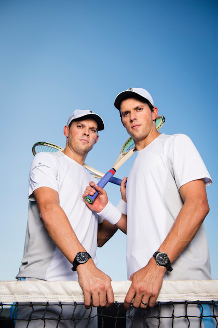 Tennis stars Bob and Mike Bryan join Baume & Mercier as brand ambassadors. Photo taken at the Citi Open at Rock Creek Tennis Center on July 31, 2017 in Washington, DC. (Photo by © 2017. Patrick McDermott Photography, LLC. All Rights Reserved.)