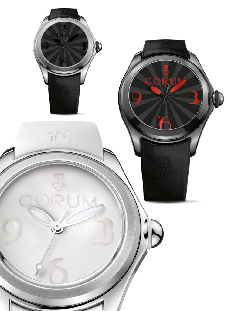New Corum Bubble Luminova watches for men and women.