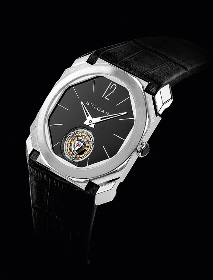 The Bulgari Octo Finissimo Tourbillon holds the world's thinnest tourbillon movement at just 1.95mm thin.