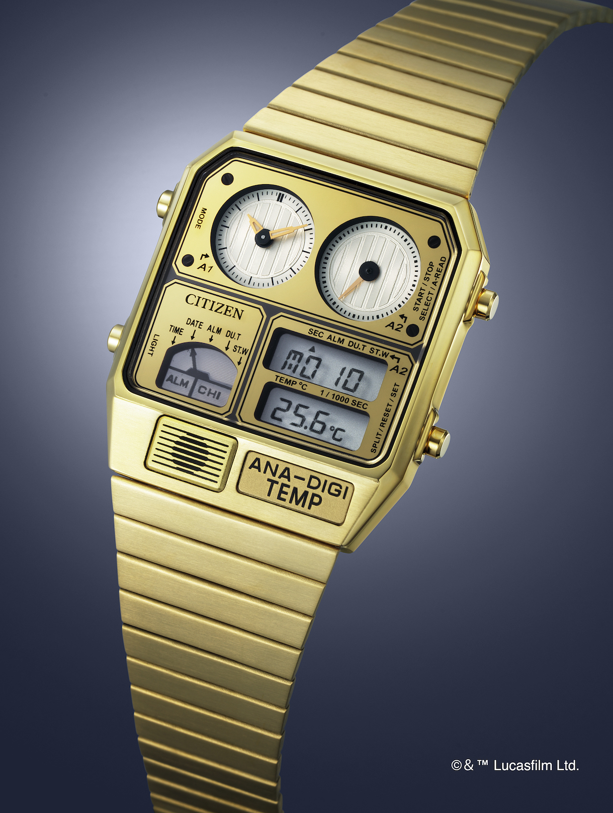 The C-3PO Ana-Digi watch from Citizen