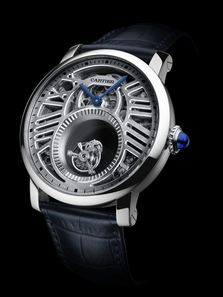 SIHH 2018: Cartier Rotonde de' Cartier Skeleton Mysterious Double Tourbillon, platinum.