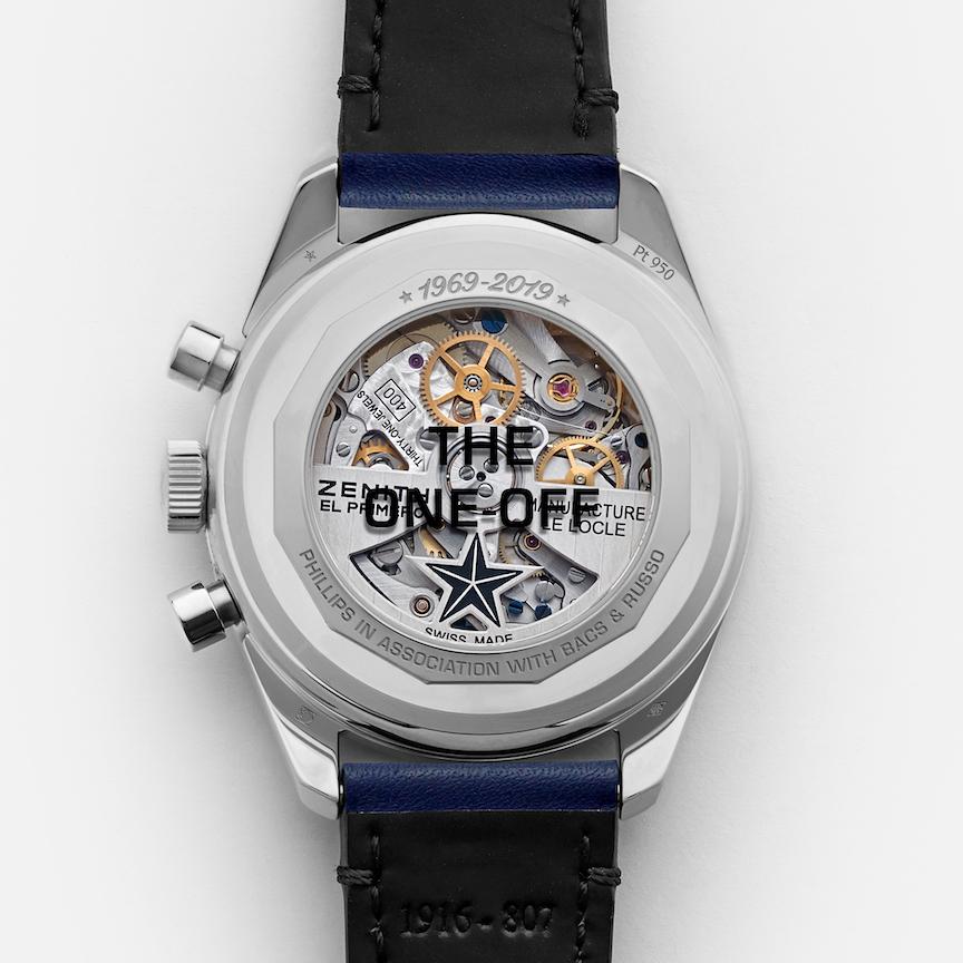 Zenith El Primero A386 platinum watch