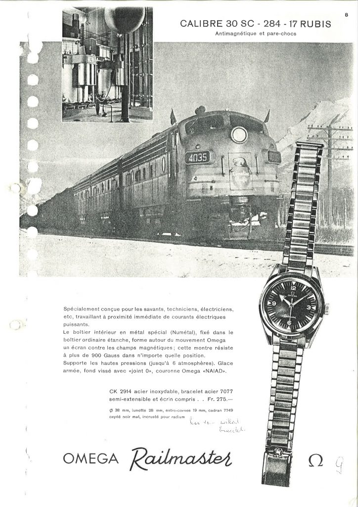 First introduced in 1957, the Omega Railmaster was known for its precision.