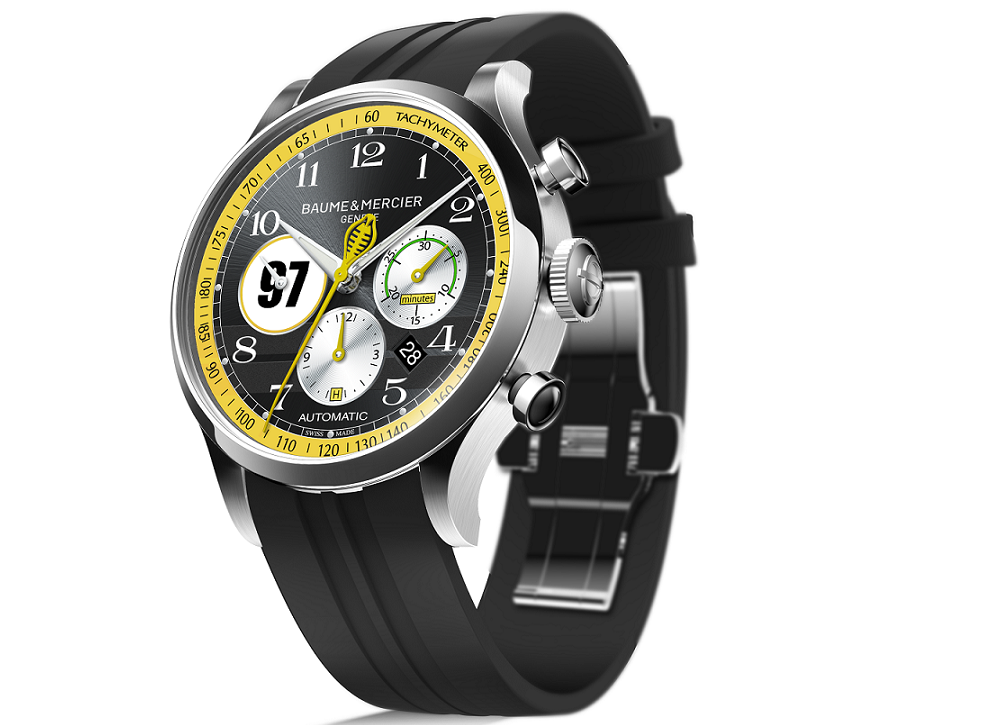 Each watch features the number of one of the four racers honored in this release. This one is Dave MacDonald #97.