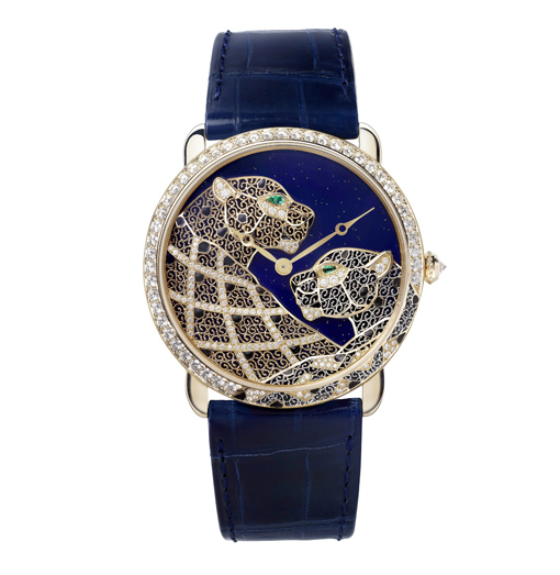 Cartier Rotonde Louis Cartier Panther Filigree watch.